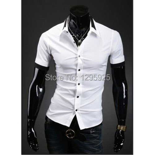 Mens Black Button Down Short Sleeve Shirt Custom Shirt