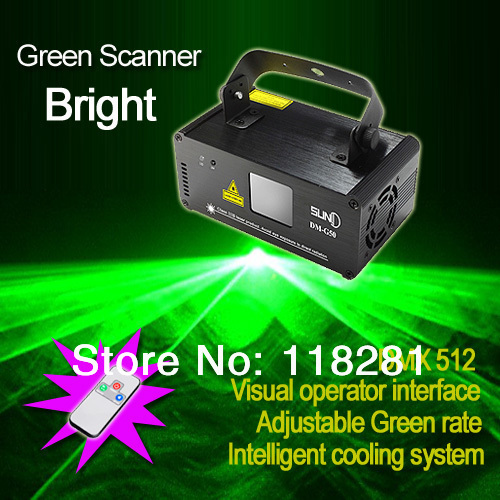 New 8 CH DMX 512 IR Remote 50mW Green Laser DPSS Lights Scanner PRO DJ Disco Party Stage Projector Show Lighting DM-G50(China (Mainland))