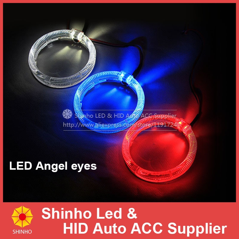 2PCS/LOT 100mm LED Angel Eyes Cree 2SMD White Blue Red Halo Ring Waterproof Guide Daytime Running Light Headlight Angel Eye DRL(China (Mainland))