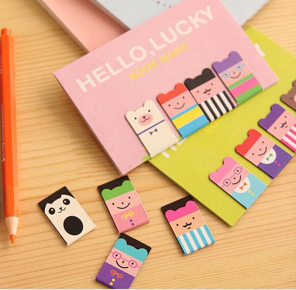 Гаджет  Set of 4pcs Birthday Gift Kawaii Magnetic Bookmarks Books Marker of Page Marcador de Livro Stationery Paperclip Office Supplies None Офисные и Школьные принадлежности