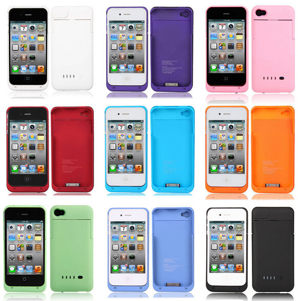 1900mAh Backup External Battery Charger Case Cover Power Bank for iphone 4 4G 4S #L0192482(China (Mainland))
