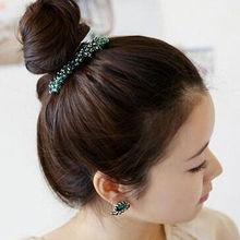 2015 Newest Ladies Women Bling Headwear Crystal Rhinestone Hair Clips Barrette Hairpin Hair Accessories 1PCS(China (Mainland))
