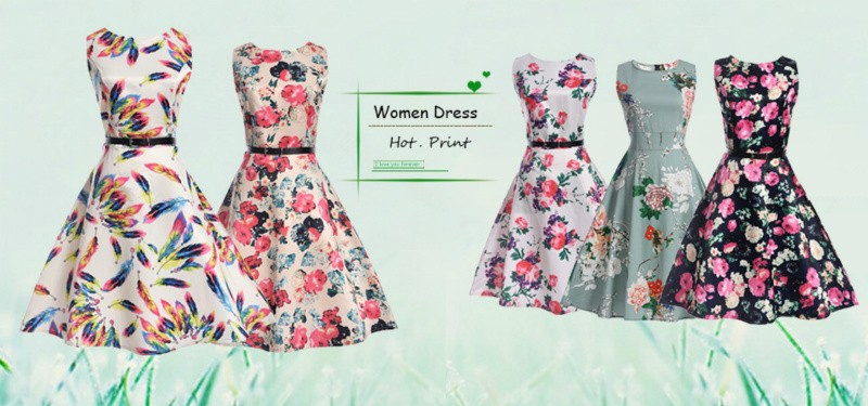 HTB1nJIzPXXXXXXVaXXXq6xXFXXX6 - Summer Women Dress Vestidos Print Casual Low Price