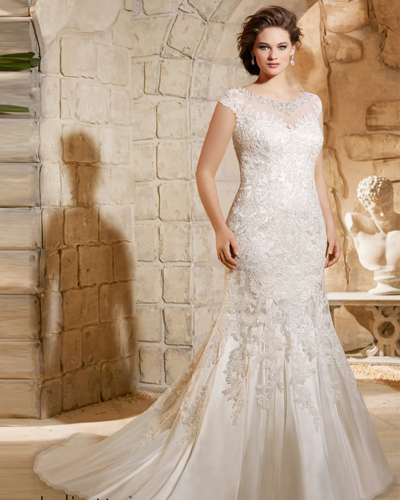Vestidos de novia 2015 mermaid plus size wedding dress for Beading for wedding dress
