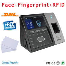 DHL Free Shipping TCP/IP Facial recognition& Fingerprint&ID card sensor Time Attendance and access control ZK software iFace702