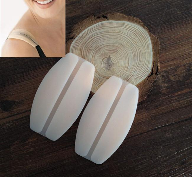 1Pair 2 Colors Silicone Bra Strap Cushions Holder Non-slip Shoulder Pads Relief Pain Straps Pad(China (Mainland))