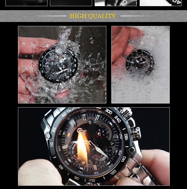 Круто! мужские Часы Caino CAINUOS Лучший Бренд Класса Люкс Кварцевые Часы Мужчины Наручные Часы Мужской Часы Наручные Часы 316 Л Из Нержавеющей Стали