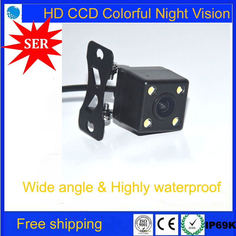 CCD HD night vision car rear view camera rear camera parking for all cars Universal camera with LED lights For all models cars(China (Mainland))