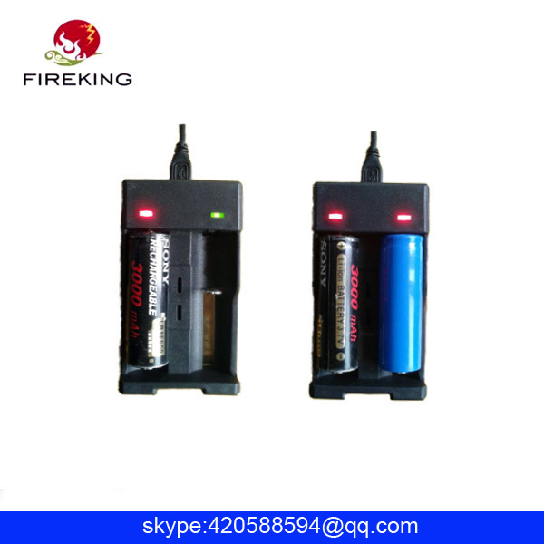 18650 battery charger and 2 battery charger port usb charger Fireking XXC 988 battery charger