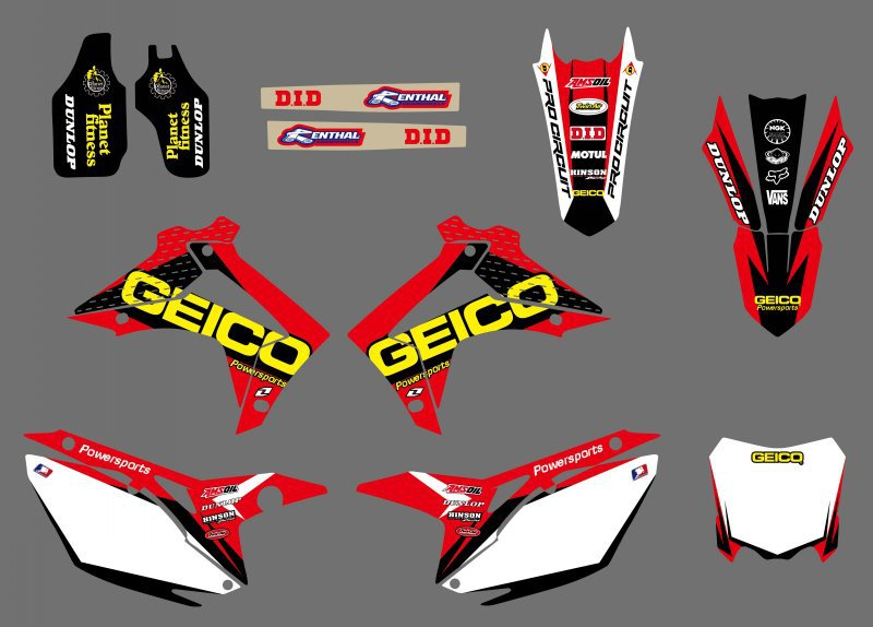 new style ( 0409) TEAM GRAPHICS DECALS FOR CRF250R CRF250 2014 &amp;CRF450R CRF450 2013-2014<br><br>Aliexpress