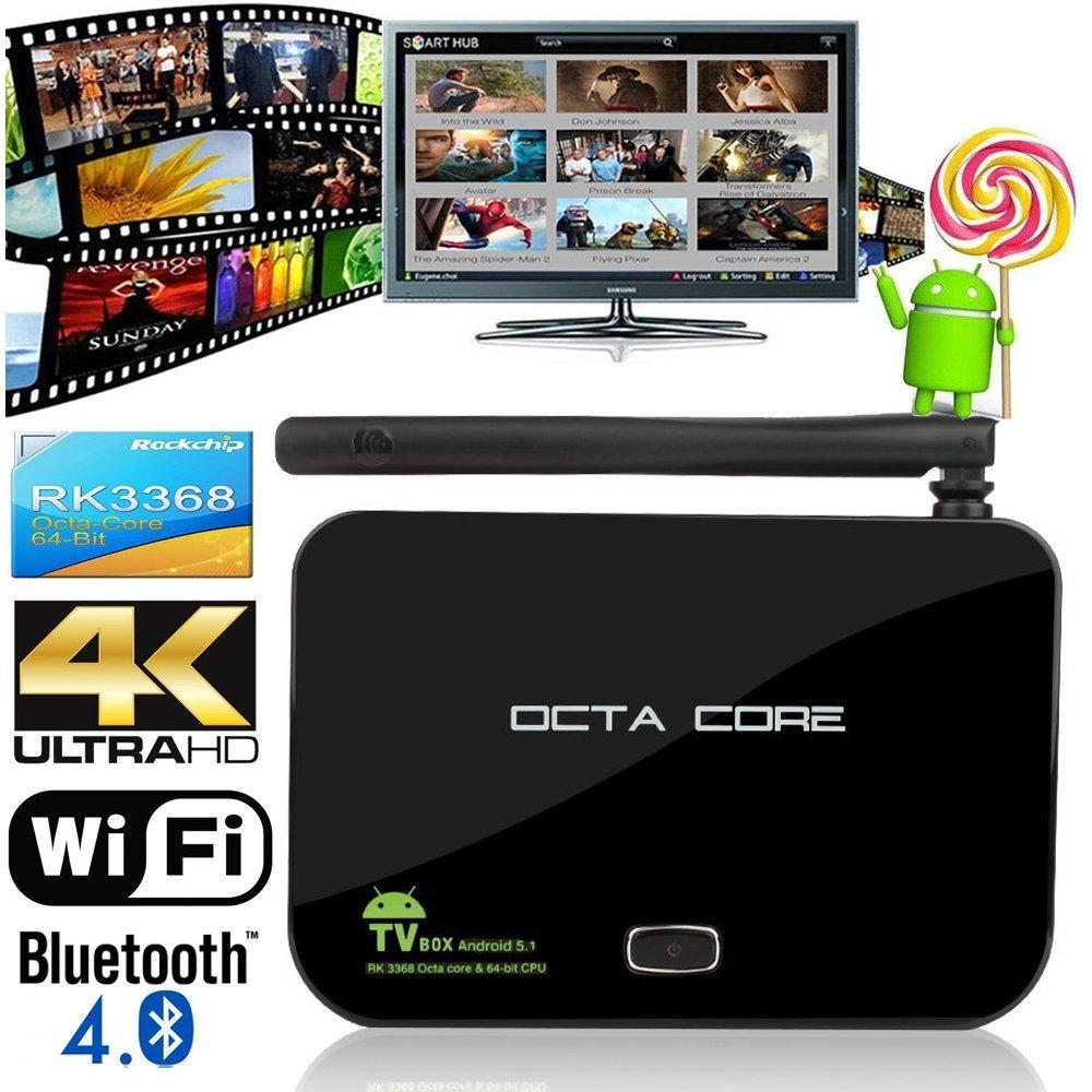 high quality Z4 Android 5.1 4K Smart TV Box 2GB+16GB Flash Rockchip 3368 Quad-Core Bluetooth 4 2.4+5.8GHZ Wifi 3D Media Player(China (Mainland))
