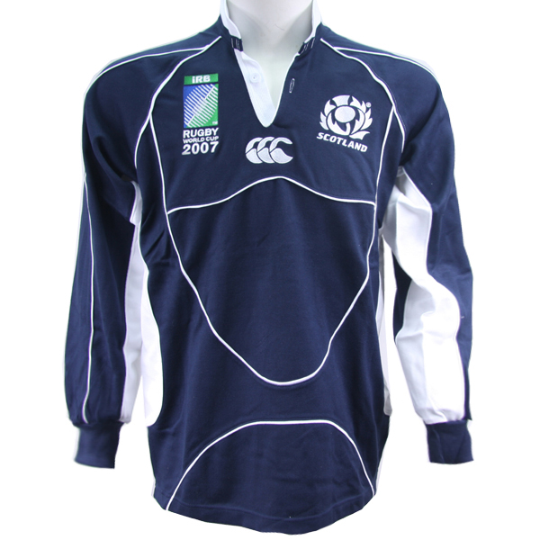 Canterbury Scotland Rugby Jersey Men Long Sleeve Navy Rugby Shirt(China (Mainland))