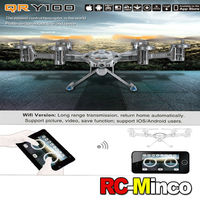 Walkera QR Y100 BNF 6-Axis FPV Hexacopter Drone Wifi RC Aircraft with Camera Support IOS / Android System Phone Control