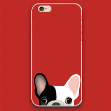 Boston Terrier cute pink black dog Design case cover cell mobile phone cases for Apple iphone 4 4s 5 5c 5s 6 6s 6plus hard shell