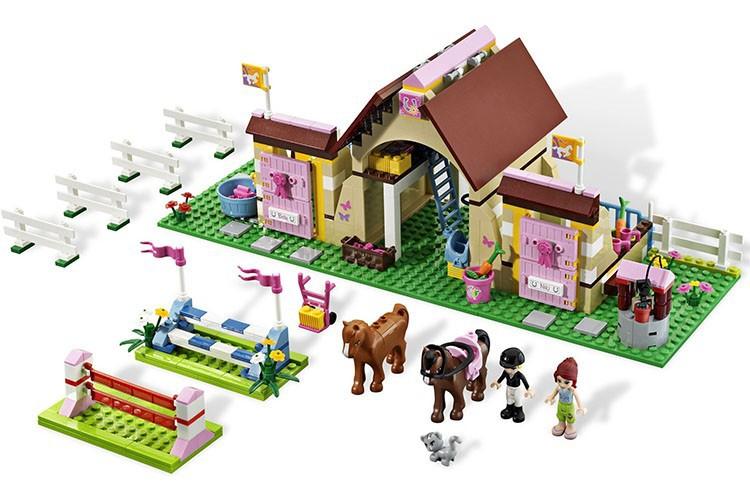 400 pcs/sets New original Bela Friends Heartlake Stables Girls Mia's Farm Building Blocks Bricks toys Compatible legeod - Huihui Bags boutique shops store