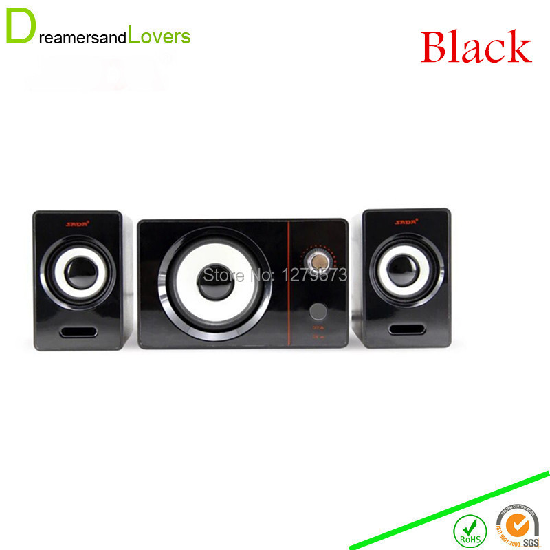 Dreamersandlovers JS0016 2.1 PC Speakers, Powered Speaker System with Subwoofer and Control Pod Delivering Quality Audio Black(China (Mainland))