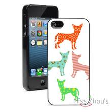 Colorful Chihuahua Pattern Protector back skins mobile cellphone cases for iphone 4/4s 5/5s 5c SE 6/6s plus ipod touch 4/5/6