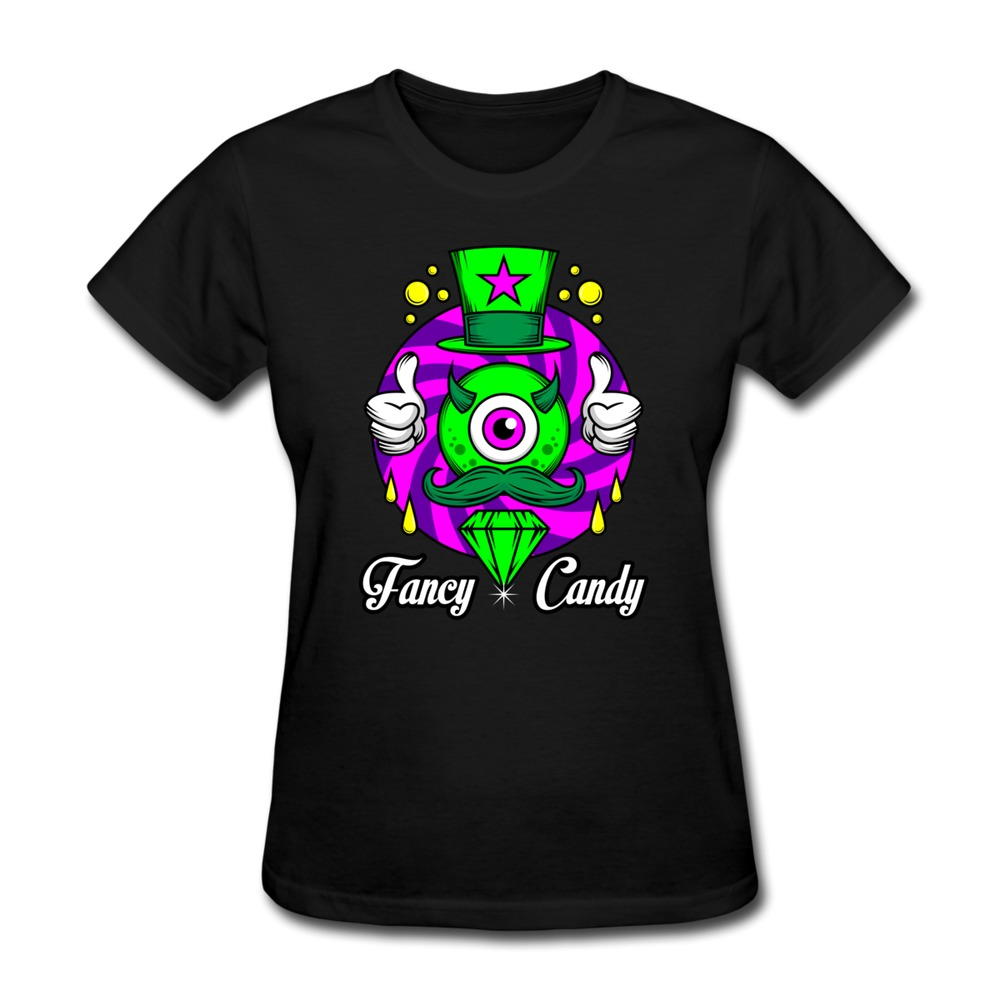 Top Rated Short Sleeve Girl T Shirt Fancy Candy Custom