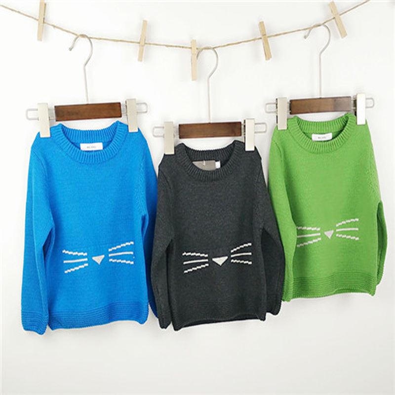 SD123 Spring boy Sweater Winter Casual baby girl boy Knitwear cotton boy Sweater solid bird pattern Knitwear baby boys clothes(China (Mainland))