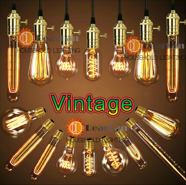 Wholesale Price,Vintage Edison Bulbs,E26/E27 Incandiscent Light Bulbs For Decoration Of Living Room,Bedroom,Study,ST64/A19/G80<br><br>Aliexpress