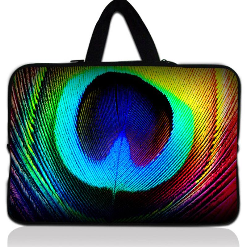 Peacock's Feather 14'' Laptop Zipper Soft Bag Cover Notebook Sleeve Case Pouch 14.4 Dell Vostro Acer Asus HP Pavilion 14 #
