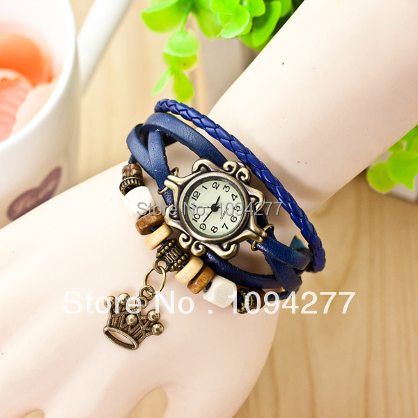 Honorable royal crown watches women fashion hand watch leadies watches(China (Mainland))