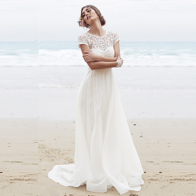 Sexy beach wedding dress 2015 white bohemian wedding for Wedding dresses for womens