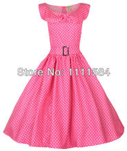 free shipping ROCKABILLY KLEID PETTICOAT POLKA DOTS Tartan rockabilly dress