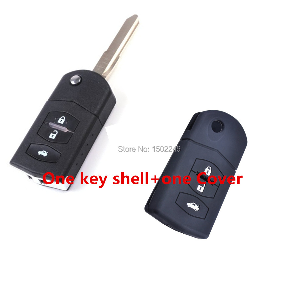1key shell Cover Keyless Entry Replacement Car Key Remote Switch Fob Key shell Case for Mazda
