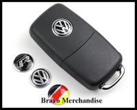 14mm car remote control key sticker with RLINE/VW/GERMANY FLAG logo badge emblem mark brands
