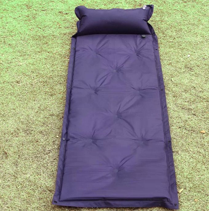 Inflatable Self-Inflating Air Mat Mattress Outdoor Bed + Pillow Camping Sleeping 270297(China (Mainland))