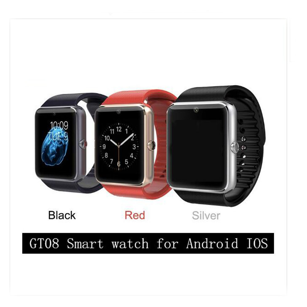 Wholesale 10pcs/lot GT08 Bluetooth Smart Watch Phone with Sim Card insert anti-lost Call reminder Phone Mate ship by DHL(China (Mainland))