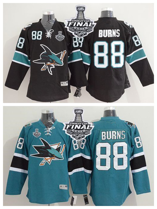 2016 New hockey #88 Brent Burns White black jerseys Stitched hockey Jersey size M L XL 2XL 3XL 4XL 5XL(China (Mainland))