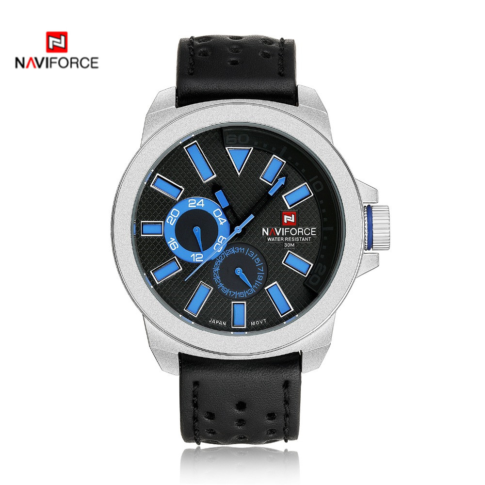 Hot NAVIFORCE Military Watch For Men Watch Luxury Brand Sports Wristwatch  Leather High Quality Quartz Watch<br><br>Aliexpress