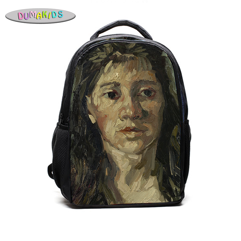 Head Of  A Prostitute December 1885 Van Gogh Backpack Sunflower Gifts Blue GirlsBaby Stylish School Colorful Diverse Children