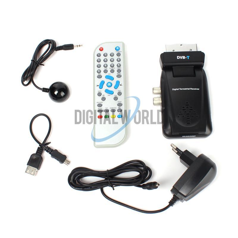 Scart Digital TV Box Tuner DVB-T FreeView Receiver SD #2610(China (Mainland))