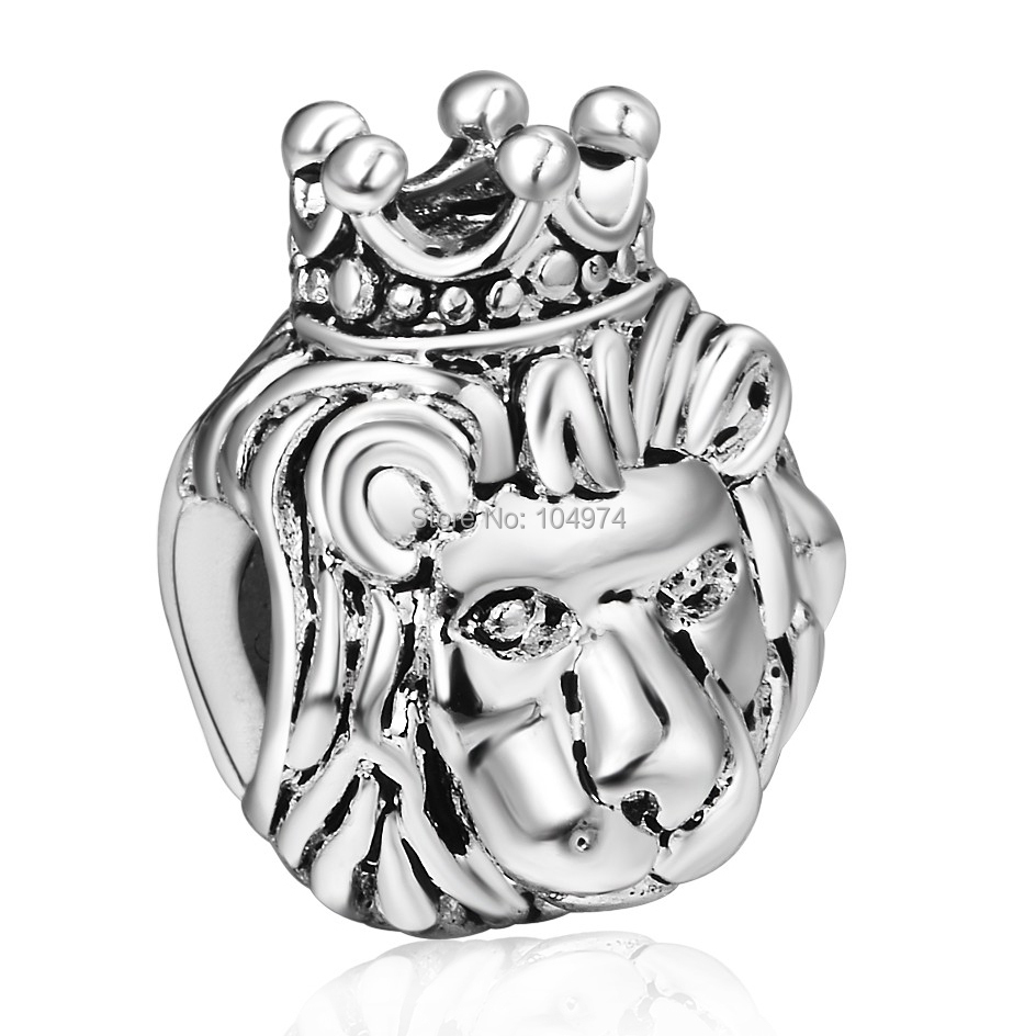 Wholesale 925 Sterling Silver Charm Lion King European Charms Beads Fit diy Snake Chain Bracelet Women Jewelry(China (Mainland))