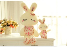 Free Shipping 3 Colors 36/46cm Baby Rabbit Sleeping Comfort Doll Plush Toys Smooth Obedient Rabbit Sleep Calm Dolls(China (Mainland))