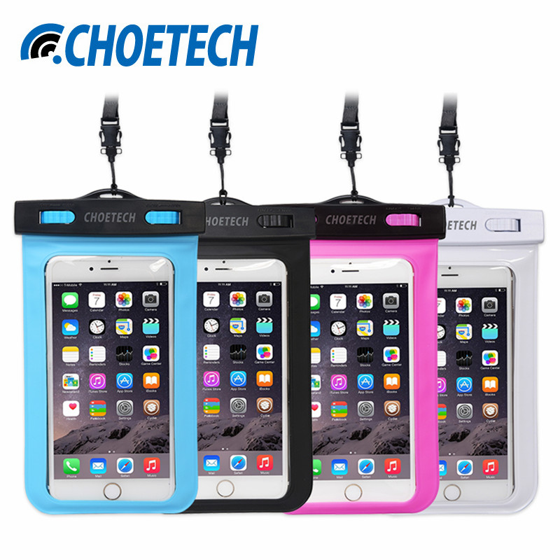 Universal Waterproof Phone Case,4Pack Clear Transparent Dustproof Dry Phone Bag with Neck Strap for iPhone 6 Xiaomi Samsung S7(China (Mainland))