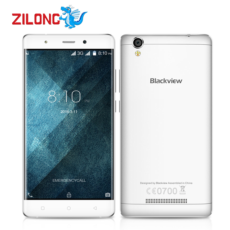 """Newest Original Blackview A8 Mobile Phone 3G 5"""" Android 5.1 MTK6580A Quad Core 1GB+8GB 8MP Dual SIM Smartphone With Free Gift(China (Mainland))"""