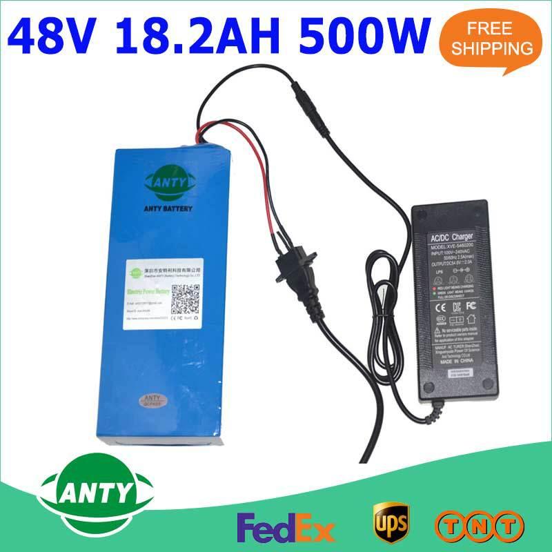 Батарея для электровелосипеда EBike 48 18.2Ah 500W 48V 54.6v 2A , батарея для электровелосипеда 5pcs 500w 36v 15ah 15a 2a 36v 15ah kettle