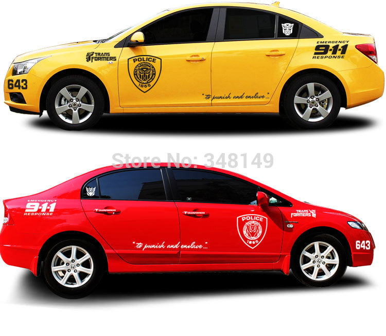 Car Styling 911 Car Sticker/Decals the whole body For Chevrolet Cruze Ford Focus volkswagen polo skoda golf mazda kia(China (Mainland))