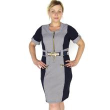 BFDADI 2016 новые платья мода свободного покроя Большой размер весной и осенняя стиль одежды с о-образным вырезом коротким рукавом рабочее платье 3267(China (Mainland))