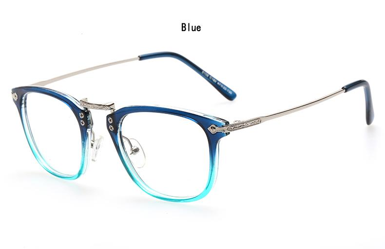 Retro Full frame glasses frame men and women eyewear ...