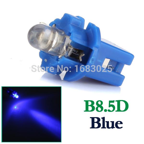 Best Price 5pcs/lot T5 B8.5D Car Auto Indiator Gauge Lights Interior Speedo Dashboard Dash Side Lamp Bulb DC12V Red White Blue(China (Mainland))