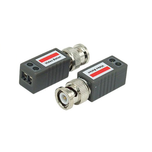 2 CCTV Passive Video Balun UTP BNC Cat5 Transceiver FREE SHIPPING(China (Mainland))