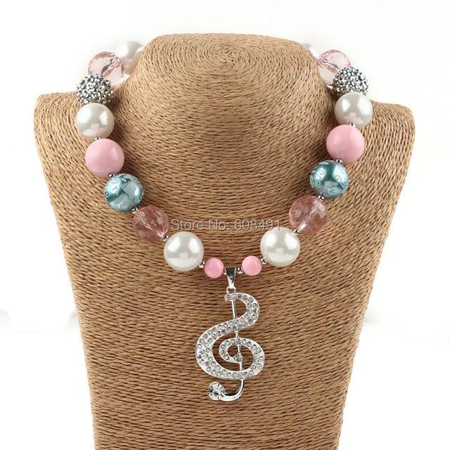 1 шт. розовый коренастый бусины ожерелье с горный хрусталь музыку к сведению ожерелье ...