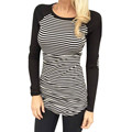 Top Selling 2016 New Casual Long Sleeve Round Neck Print Tshirt Women tops Spring Autumn Casual