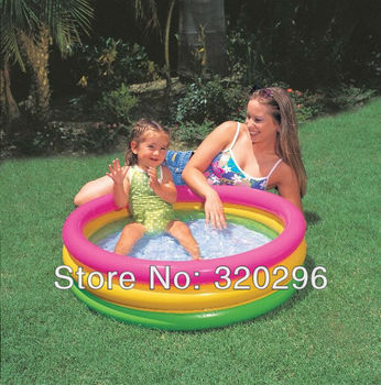 High Quality Intex Large Size Fluorescent Tricyclic Inflatable Pool/ INTEX-58924