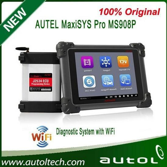 2015 Top selling New Autel MaxiSys Pro MS908P Wifi Diagnostic System with Online Update English J2534 programming DHL free ship(China (Mainland))